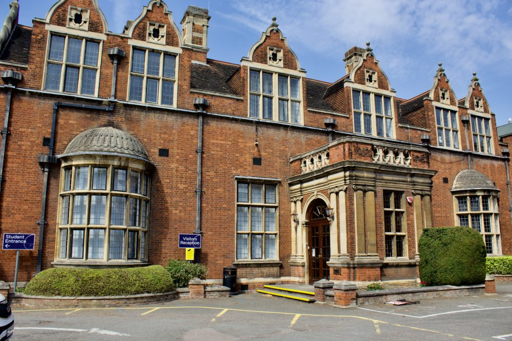 The Bedford Sixth Form Campus visitor reception